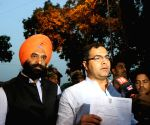 Manjinder Singh Sirsa, Parvesh Verma talk to press