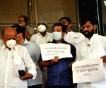 Opposition party protest at Budget Assembly Session