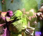 Widows celebrate Holi in Vrindavan