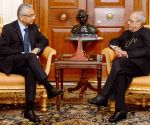 Mauritian PM calls on President Mukherjee