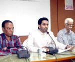 Mohammed Majid Hussain addressing media