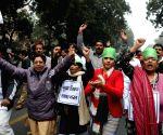 MCD workers' demonstration