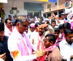 Medak (Telangana): 2019 Lok Sabha elections - TRS' T. Harish Rao, Kotha Prabhakar Reddy during election campaign