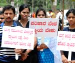 Demonstration against Karnataka government's failure to curb crime against women