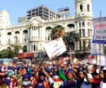 All Bengal Mid-Day meal workers union protest in Kolkata