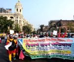 Members of All Bengal Special Educators Association protest against WB Govt