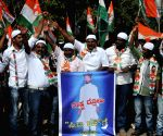 Members of Bangalore Central Youth Congress protesting