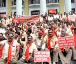 BEML's demonstration against Central Govt over privatization