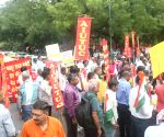 Central Trade Unions stage a demonstration against labour bills