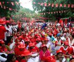 CITU, AIKS, AIAWU demonstration