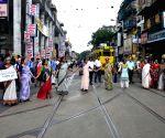 Demonstration against Contai rape case
