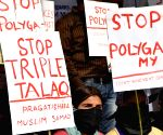 Demonstration against triple talaq
