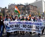 Progressive Rural Medical Practitioners Welfare Association protests against CAA-NRC-NPR
