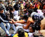 Shikshak Aikya Mukta Mancha protest march