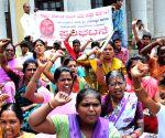 Suvarna Karnataka Women and Child Welfare Service Association's demonstration