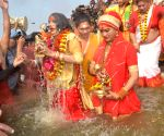 Devotees take dip at Kumbh on 'Mauni Amavasya