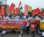 Members of Trade Unions protest over their various demands