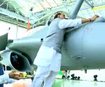 Rajnath hits out at Rahul over Rafale 'puja'