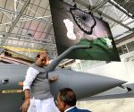 Rajnath flies Rafale sortie in France