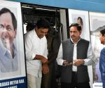 K Chandrasekhar Rao inaugurated Metro Rail Corridor-II