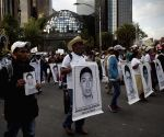 Mexico City (Mexico ): Family members of the 43 students during a protest in Mexico City