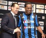 Mexico City: Ronaldinho poses during his presentation as a new player of Queretaro soccer team