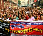 Mid-day meal workers' protest rally