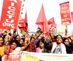 Mid Day meal workers' demonstration