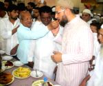 Asaduddain Owaisi during an iftar party