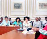 Union Minister Ramdas Athawale talks to press