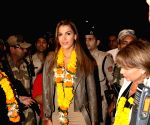 Iris Mittenaere seen at Mumbai airport
