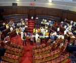 MLA's taking oath during the swearing-in ceremony of the newly-elected MLAs in the State Legislative Assembly in Kolkata on May 7, 2021.