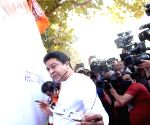MNS Chief Raj Thackeray participated in Marathi Signature Campaign on World Marathi Day at Shivaji Park, Dadar in Mumbai on Saturday 27th February, 2021