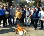 MNS protest against suicide attack on a CRPF bus