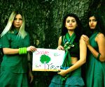 Models urge people to save trees