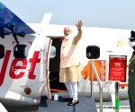 Modi inaugurates seaplane service, boards first flight to Sabarmati