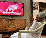 Hiraba watches son Modi live on TV at Ayodhya events