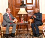 Monaco's Prince Albert II meets President Kovind