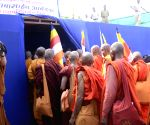 Monks assemble at Chaitya Bhoomi to pay tribute to B R Ambedkar