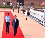 Prime Minister Narendra Modi receives President of the Republic of Korea, Moon Jae-in