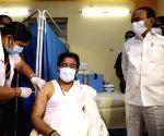 Free Photo: MoS Kishan Reddy takes Covid vaccine