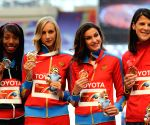 Awarding ceremony for women's high jump of the 14th IAAF World Athletics Championships Moscow 2013