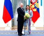 RUSSIA MOSCOW PUTIN PYEONGCHANG WINTER PARALYMPICS PRIZWINNERS