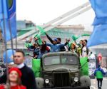 RUSSIA-MOSCOW-PARADE OF 2017 WORLD FESTIVAL OF YOUTH AND STUDENTS