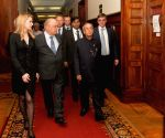 Moscow (Russia): President Mukherjee during his visit to the Moscow State University