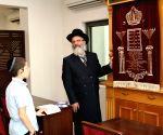 Moshe Holtzberg visits Chabad House