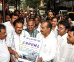 PC Mohan collecting funds for Natural Disaster in J&K