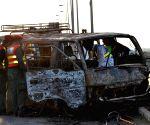 PAKISTAN MULTAN VAN FIRE ACCIDENT