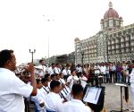 Navy band performs at Gateway of India