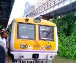 Heavy rain hit train services in Mumbai